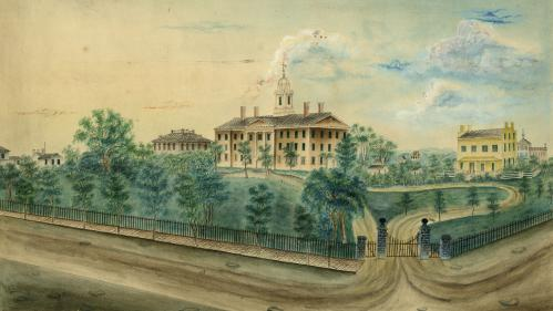 watercolor of Old Queens