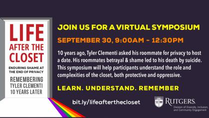 Life after the closet join us for a virtual symposium